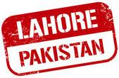 Lahore pakistan stamp — Stock Vector