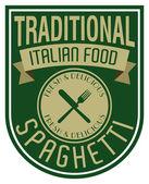 Italian spaghetti label — Stock Vector