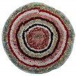 Traditional Russian round knit Mat handmade. — Stock Photo