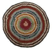 Traditionele russische ronde brei mat handgemaakte. — Stockfoto