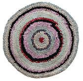 Ronde russe traditionnel tapis faits à la main en tricot. — Photo