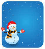 Vector snowman. EPS vector illustration for Christmas design. — Stock Vector