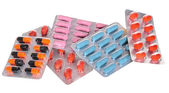 Various medicines, pills and syringes — Stock Photo