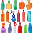 Colored plastic bottles — Stock Photo
