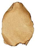 Verbrande blad oud papier geïsoleerd witte achtergrond — Stockfoto
