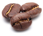 Coffee beans are isolated on white background. — Stock Photo