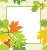 Decorative autumn frame — Stock Vector