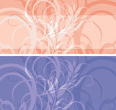 Two ornamental stylish borders — Vector de stock