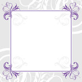 Ornamental lilac frame — Stock Vector