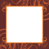 Ornamental brown frame — Stock Vector