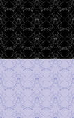 Ornamental black and lilac backgrounds — Stock Vector