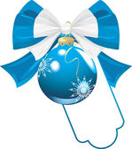 Blau bug mit christmas ball — Stockvektor