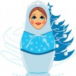Snow maiden and Christmas fir tree — Stock Vector #14789645