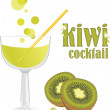Kiwi cocktail - Stock Vector