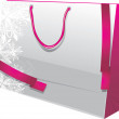 Stock Vector: Christmas paper gift bag