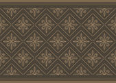 Dark brown ornamental background — Stock Vector