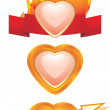 Hearts. Three icons for design — Stock Vector