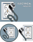 Electrical industry. Symbol set for design — Stock Vector