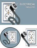 Industria eléctrica. símbolo de diseño — Vector de stock
