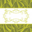 Royalty-Free Stock Vector Image: Decorative frame on the background with a green leaves