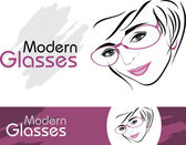 Stylish modern glasses. Icons for design — Stock Vector