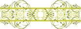 Seamless ornamental green border — Stock Vector