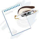 Reçeteli gözlük için — Stok Vektör