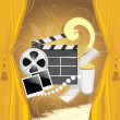 Film industry background — Stock Vector