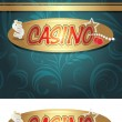 Casino icon and background for design — Stock Vector #30556761