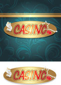 Casino icon and background for design — Stock Vector
