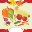 Vegetable background to the thanksgiving day — Stock Vector