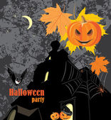 Halloween party background — Stock Vector