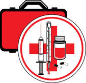 First aid kit. Icon for design — Stock Vector