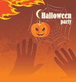 Halloween party. Abstract background — Stok Vektör