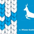 Stock Vector: Winter knitted background. Banner for design
