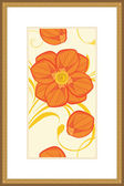 Floral ornament in the golden frame — Vector de stock