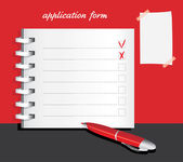 Application form template — Stock Vector