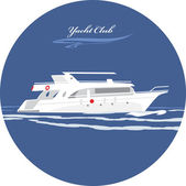 Yacht club. Icon for design — Stock Vector