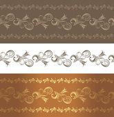 Ornamental brown borders — Stock Vector