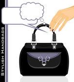 Female stylish handbags — Stockvektor