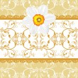 Ornamental background with daffodil — Stock Vector #9909333