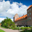 Swedish castle with garden — Stock Photo
