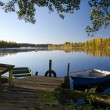 Autumn lake frame — Stockfoto