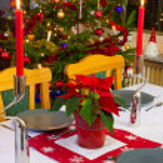 Christmas dinner decoration — Stock Photo