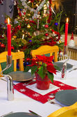 Christmas dinner decoration — Stock fotografie