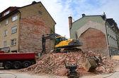City building demolition process — Stock Photo