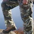 Man's hiking fashion — Stock Photo