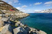 Norska kusten landskap — Stockfoto