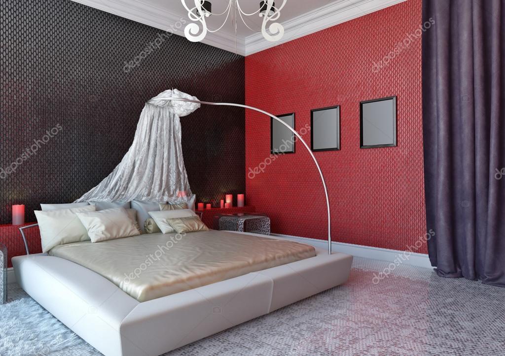 Camera da letto con baldacchino foto stock - Camera da letto baldacchino ...