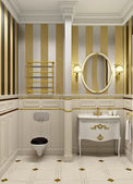 Gold bathroom — Stockfoto